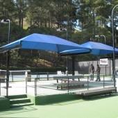 Bleacher Shade Canopy NorCAL Tennis Courts