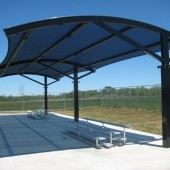 Bleacher Shade Cover Barrel Roof