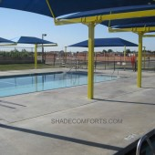 Shade Canopies Cover NorCAL Swimming Pool
