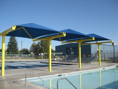 Bleacher_Shade-Structure & Custom Shade Canopy - Commercial California - Fabric - Patio