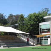 Bleacher Shade Sails – California School Custom