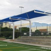 Bleachers Shade Structure Los Angeles Contractor