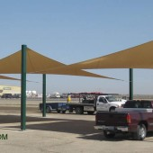 Shade Sails On Fresno Manufacturer Parking Lot