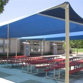 Pre engineered DSA Fabric Shade Structures Cover School Patios
