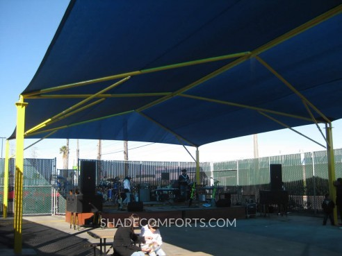 Shade Structure Covers Oakland Outdoor Stage