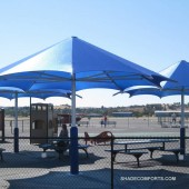 HDPE Fabric Umbrellas Shade Contra Costa Airport Playground