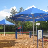 Large Shade Umbrellas Cool School Recess Areas