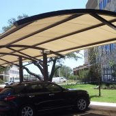 Parking Lot Fabric Canopy Arched Roof
