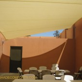 Shade Sail Structure Cools NorCAL Pool