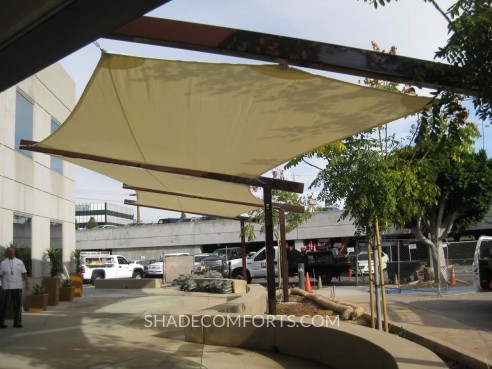 Patio-Tensile-Structure & Tensile Fabric Canopy Shades Corporate Patio