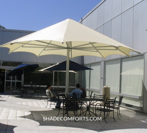 Patio_Shade_Umbrella & Patio Shade Umbrellas - Commercial NorCal - Giant Permanent