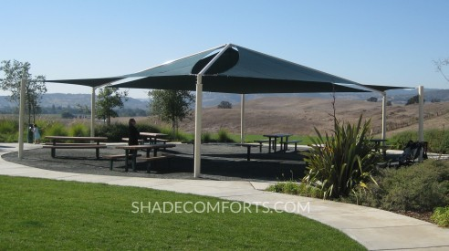 Patio Tensile Shade Structure