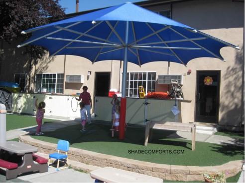 Permanent-Shade-Umbrella & Playground Canopy Shades Fremont CA Church