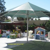 Permanent Shade Umbrella Cools San Jose Preschool