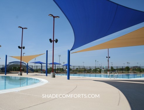 Shade Sails California - Commercial Pools - Aquatic Centers