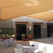 Courtyard Shade Sails For Recreation Center