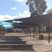 Tensile Structure Shades Alameda County Patio