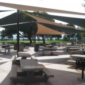Shade Sails Cover San Francisco Bay Picnic Patios