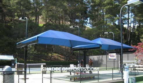 Shade Canopy Tennis Court California