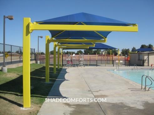 Shade_Structures_Aquatic_Center & FAQ - Fabric Shade Canopies and Shade Sails