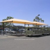 Tram Shade Structure Cools NorCAL Parking Lot