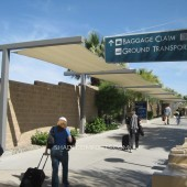 Prefabricated Walkway Covers Shade SoCAL Airport