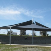 Amphitheater Shade Sail Structure 3