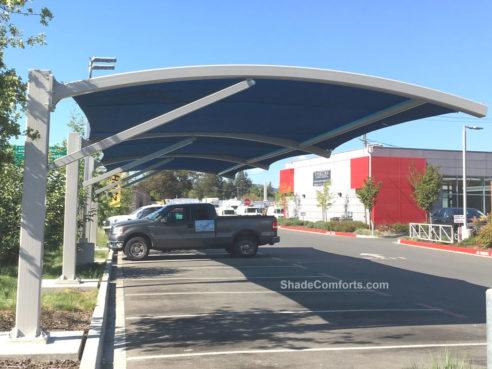 arched-canopy-parking-shade-structure-sonoma & Custom Shade Canopy - Commercial California - Fabric - Patio