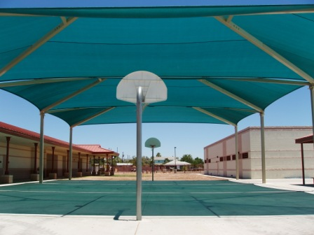 Basketball Court Shade Cover 2
