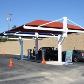 Braced T Post Car Parking Shade Canopy 21