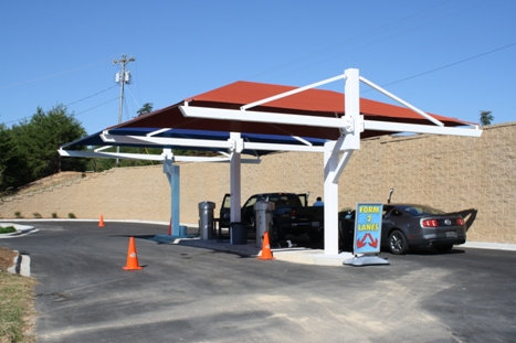 & Braced T Post Car Parking Shade Canopy 21