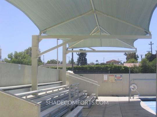 Cantilever Bleacher Shade Canopy 1