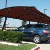 Cantilever Shade Structure Barrel Roof