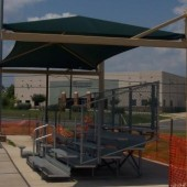 Cantilevered Bleacher Shade Structure 12