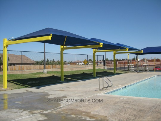 Cantilevered Pool Shade Structure NorCAL 1