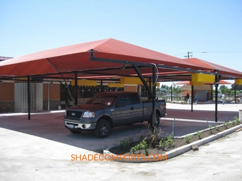 & Sun Shade Canopies NorCAL Commercial Car Wash
