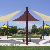 Shade Sail Structure Cools NorCAL Park Patio