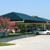 Double T Post Inline Parking Shade Structure 20