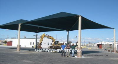 Large Clear Span Fabric Shade Canopy