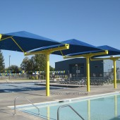 NorCAL Cantilevered Fabric Shade Structure 2