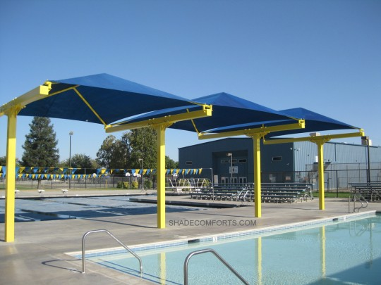 Cantilevered Shade Canopy Structures - Commercial - California