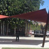 parabolic shade sails contractor san benito california