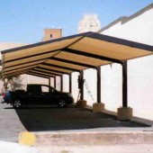 Parking Canopy Over Employee Cars 7