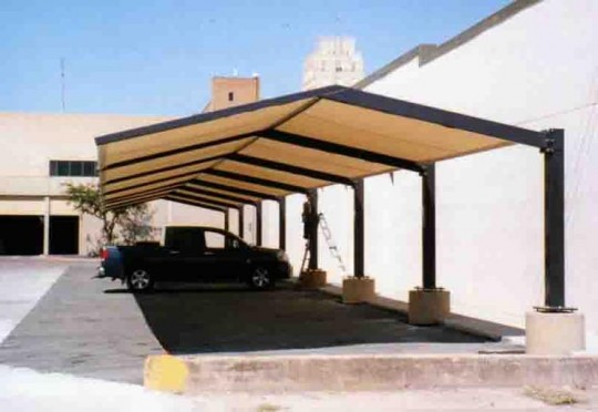 & Parking Canopy Over Employee Cars 7