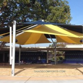 Freestanding Courtyard Patio Awning With Large ClearSPAN