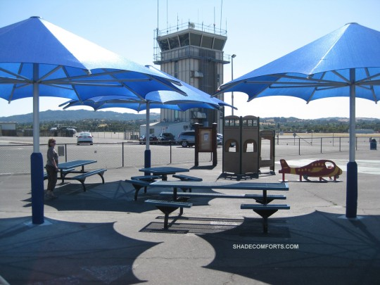 These 3 Permanent Umbrellas Cover 930 Square Feet Of Playground At Contra Costa Airport In Concord CA