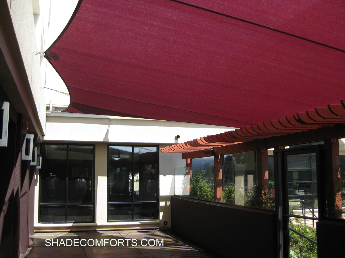Sail awnings for patio - Shade Sails Photo Gallery Tensile Shade Structures