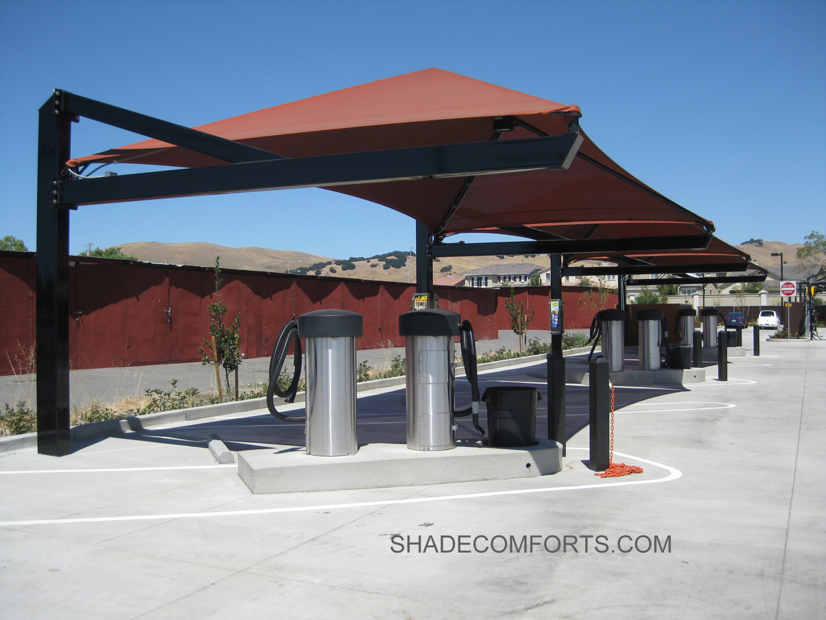 & Car Wash Shade Structures - Auto Detailing Canopy - California