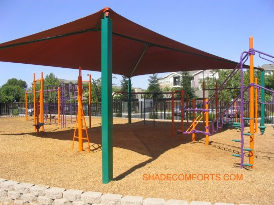 & Shade Canopy California Playground 2