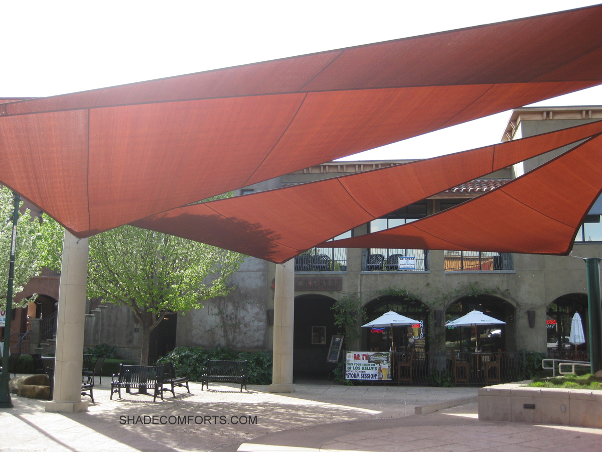 shade sail structure over norcal outdoor plaza 24